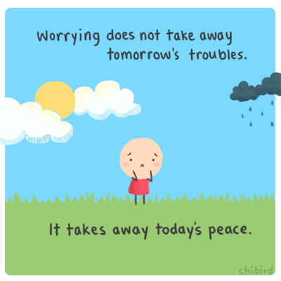 preocupación Yo amo meditar