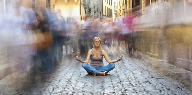 Meditación urbana Yo amo meditar